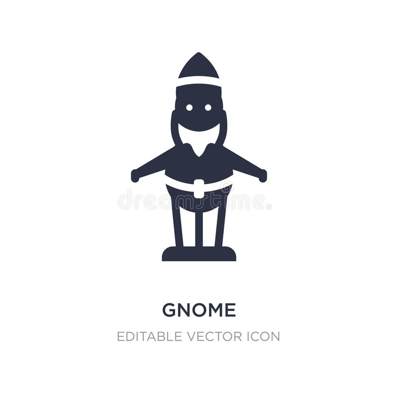 gnome icon on white background. Simple element illustration from Architecture and city concept vector illustration