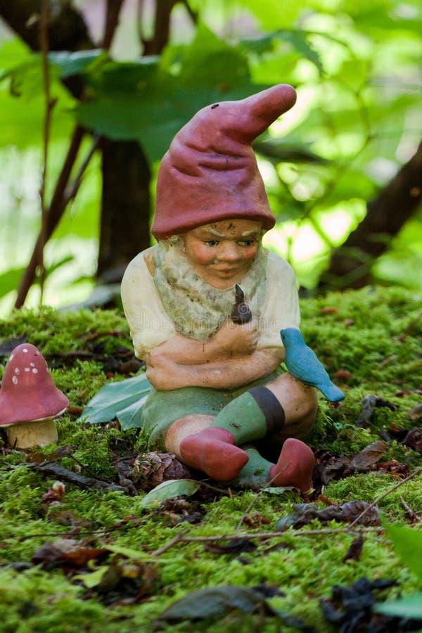 Download Gnome im üppigen Garten stockbild. Bild von gnome, whimsical - 27732083