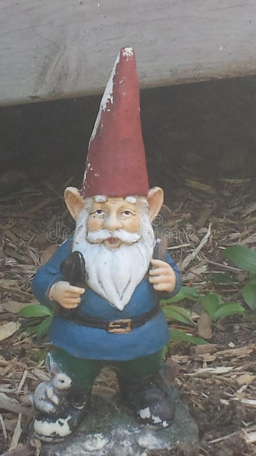 A Gnome. In the Wheatland festival campgrounds in Michigan royalty free stock image