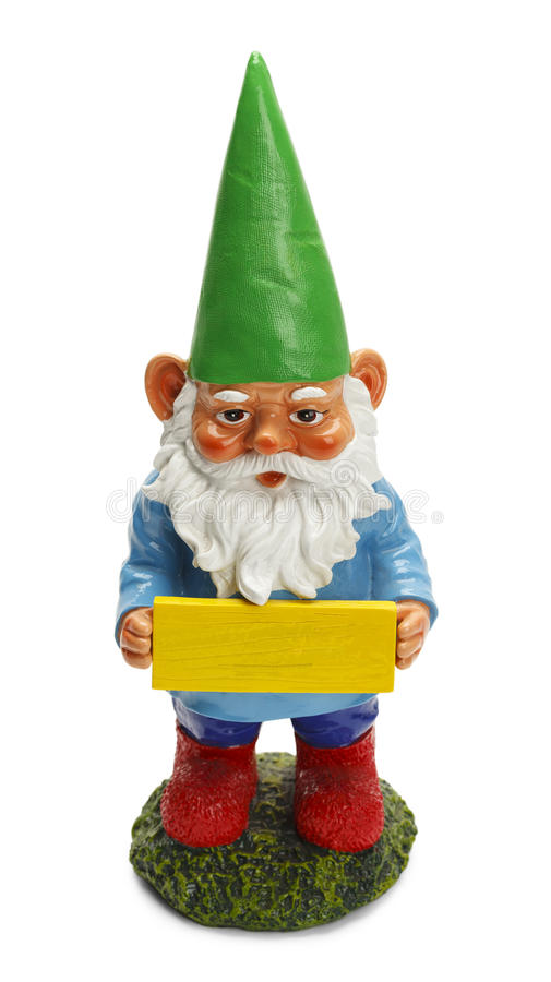 Free Gnome With Sign Stock Images - 50355914