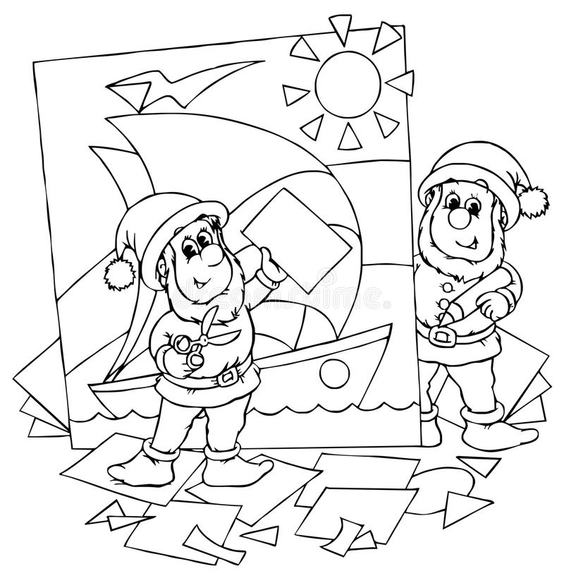 Gnomes ilustração stock