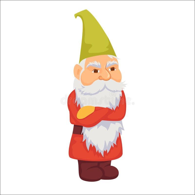 gnomes Anão irritado ilustração royalty free