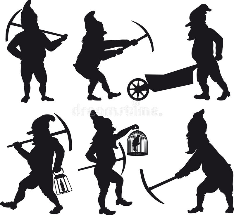 Gnomesschattenbilder stellten 1 ein vektor abbildung