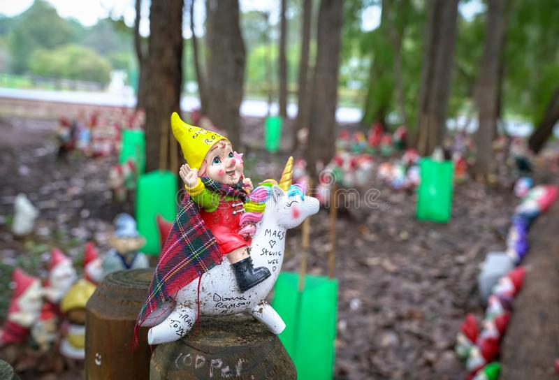 Gnomesville at Ferguson Valley royalty free stock photography