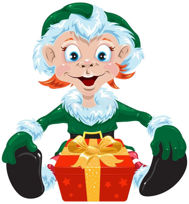 Gnomo de la Navidad stock de ilustración