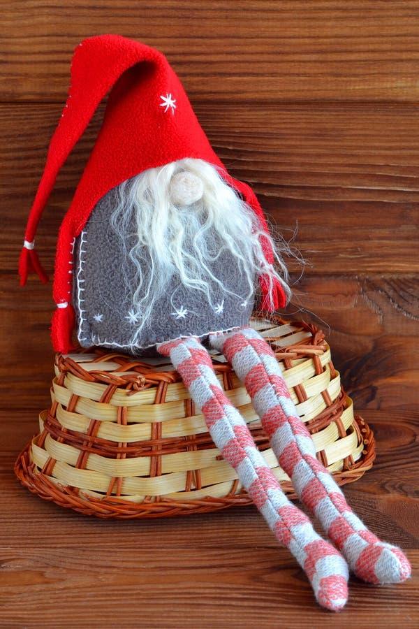 Gnomo escandinavo do Natal fotografia de stock