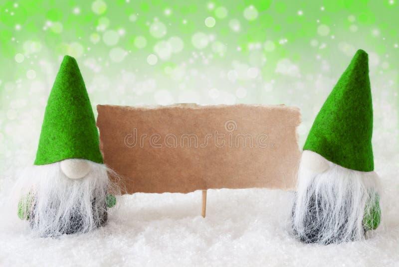 Download Gnomos Naturais Verdes Com Cartão, Espaço Da Cópia Imagem de Stock - Imagem de propaganda, decoração: 80102443