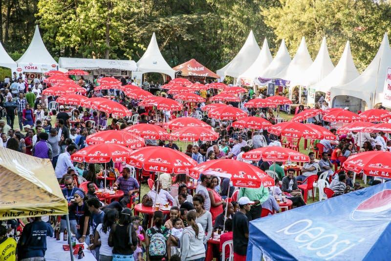 Goût 2012 de festival de nourriture d'Addis images libres de droits