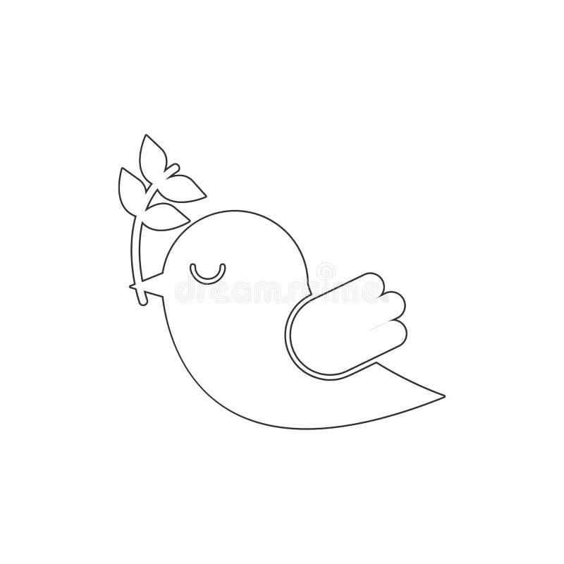 Go??b, ptasia kontur ikona Elementy Wielkanocna ilustracyjna ikona Znaki i symbole mog? u?ywa? dla sieci, logo, mobilny app, UI,  royalty ilustracja
