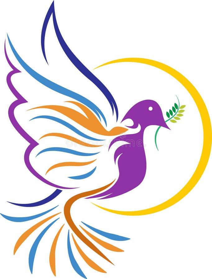 Gołąbka logo ilustracji
