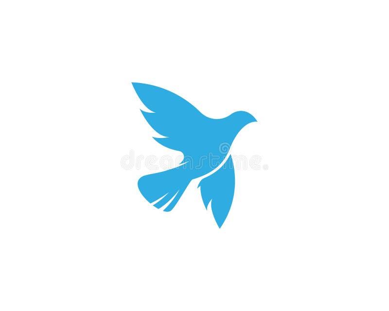 Gołąbka logo ptasi szablon ilustracja wektor