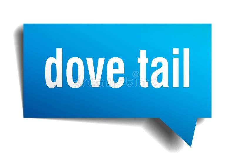 Gołąbka ogonu 3d mowy błękitny bąbel ilustracji
