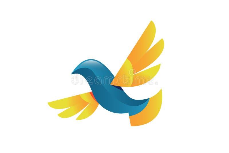 Gołąbka ptasi wektorowy logo royalty ilustracja