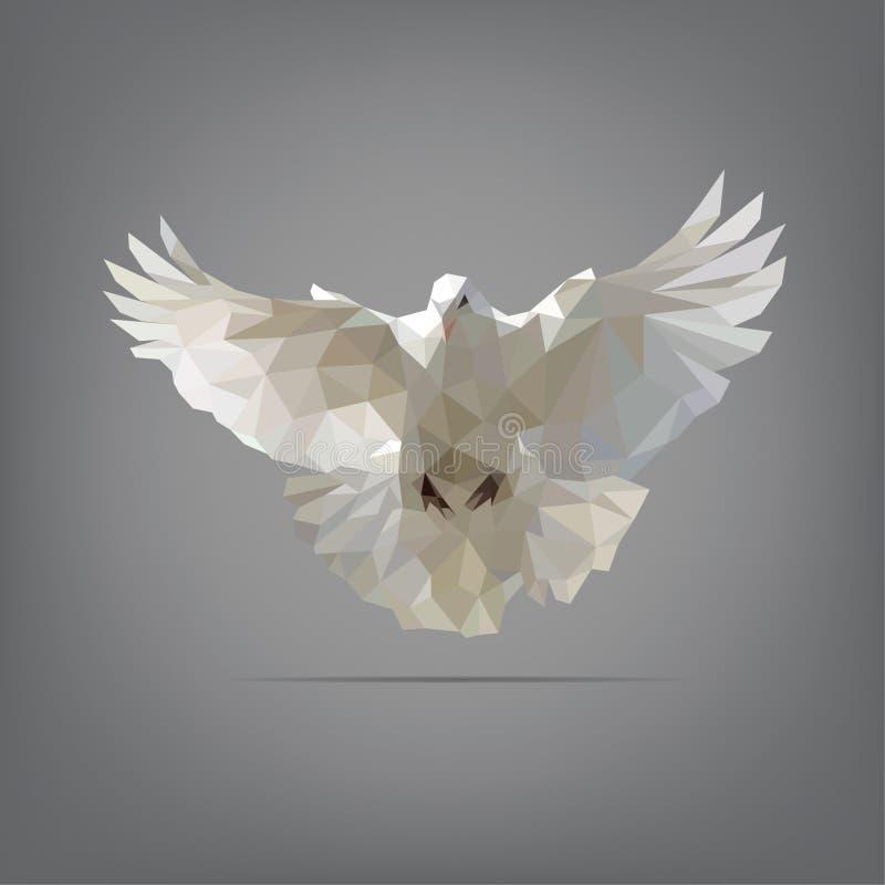 Gołąbka w origami stylu również zwrócić corel ilustracji wektora ilustracja wektor
