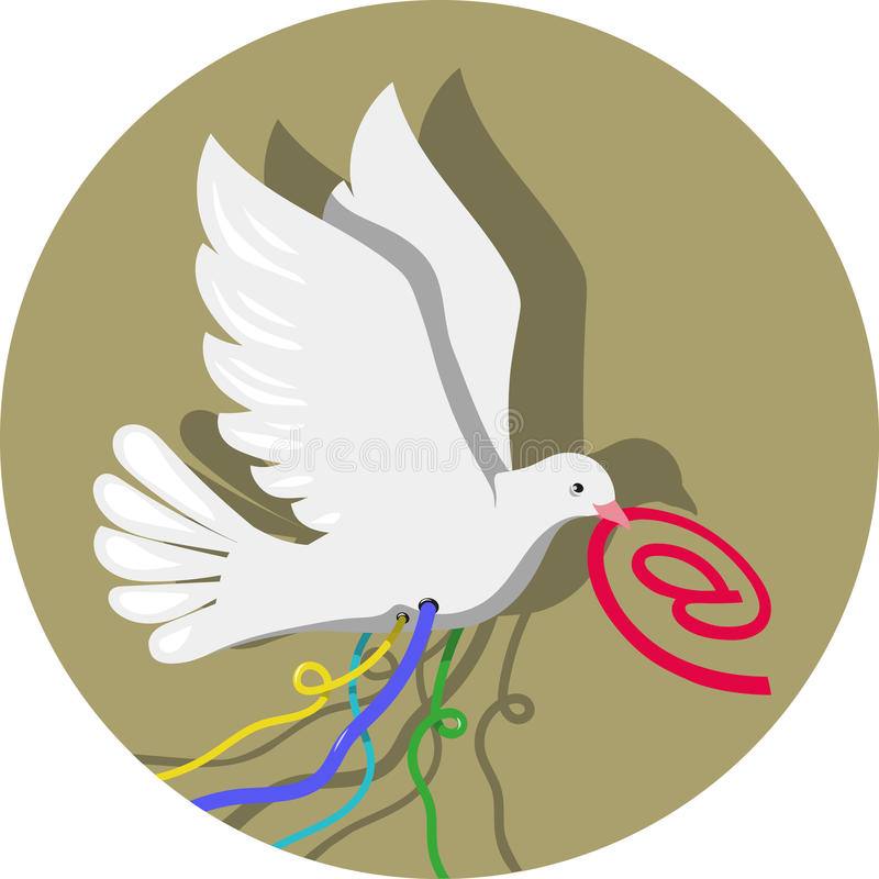 Gołębia poczta royalty ilustracja