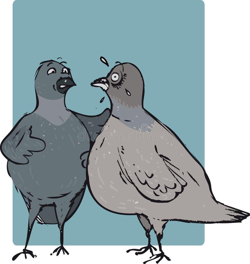 Gołębia rozmowa ilustracja wektor