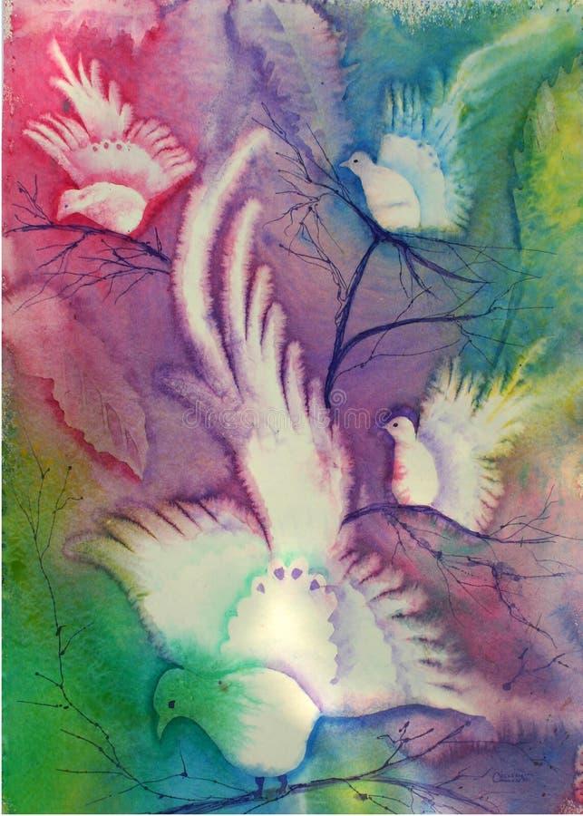gołębie abstrakcyjnych royalty ilustracja