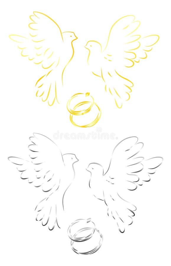 gołębie miłości ilustracji