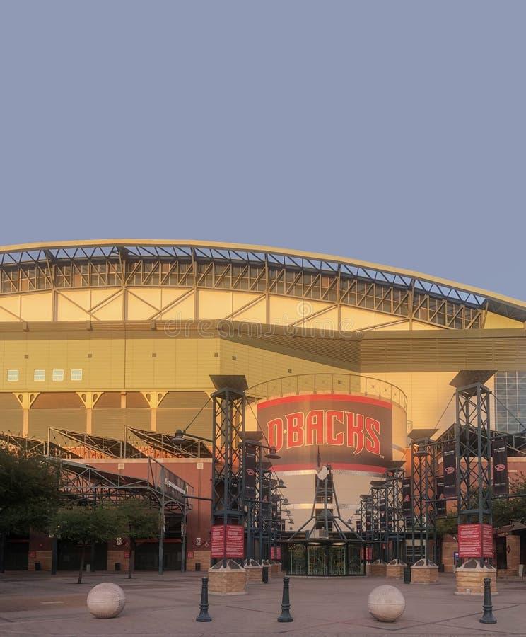 Gończy pole dom Arizona Diamondbacks zdjęcie royalty free