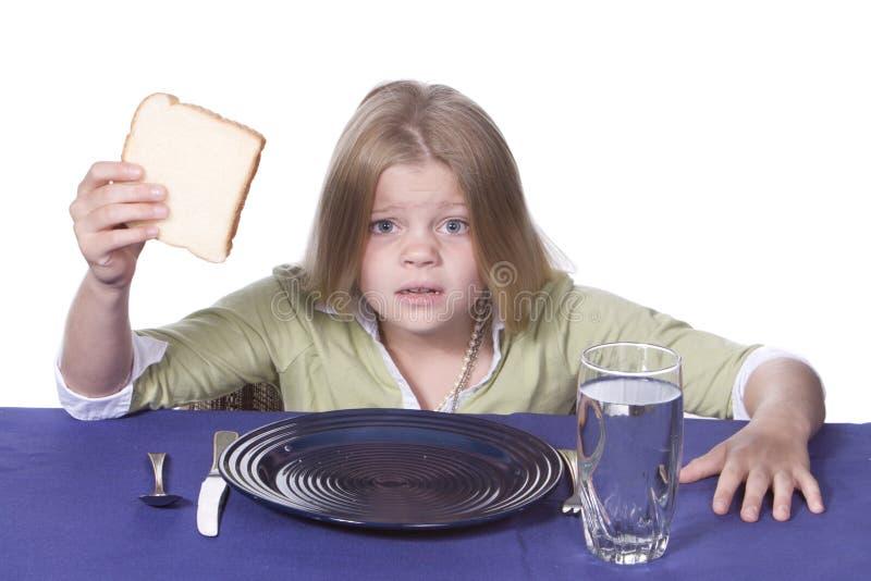 gość restauracji chlebowa woda obrazy royalty free