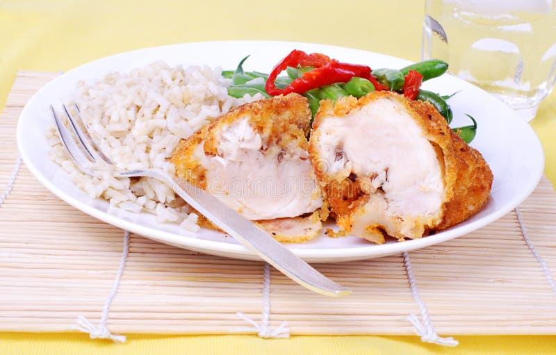 gość restauracji piersi kurczaka gość restauracji zdjęcie stock