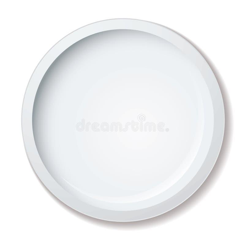 gość restauracji talerz ilustracja wektor