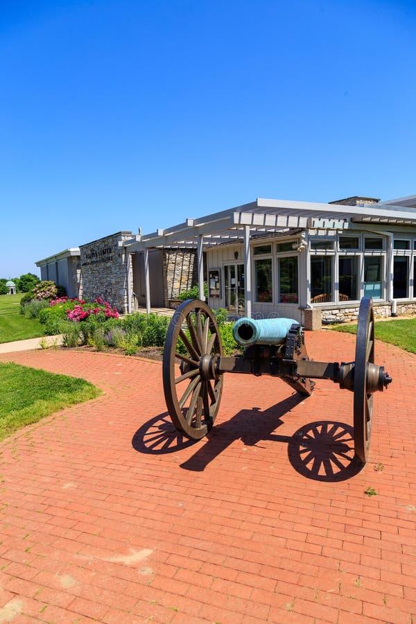 Gościa centrum przy Antietam obywatela polem bitwy obrazy royalty free