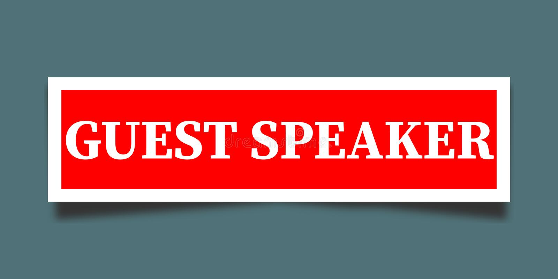 Gościa mówcy ilustracja ilustracji