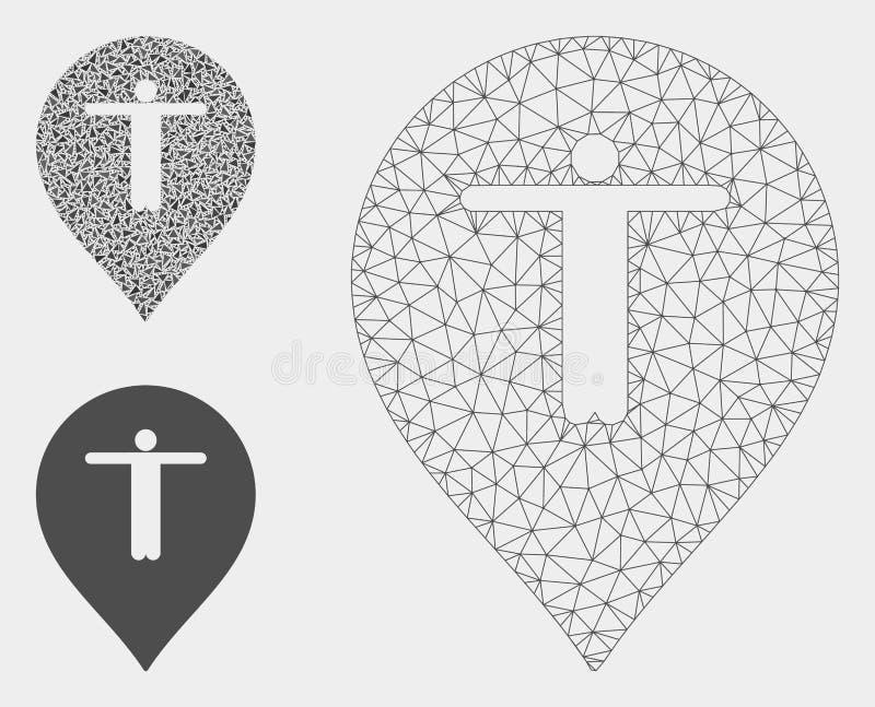 Gościa markiera siatki sieci trójboka i modela mozaiki Wektorowa ikona royalty ilustracja