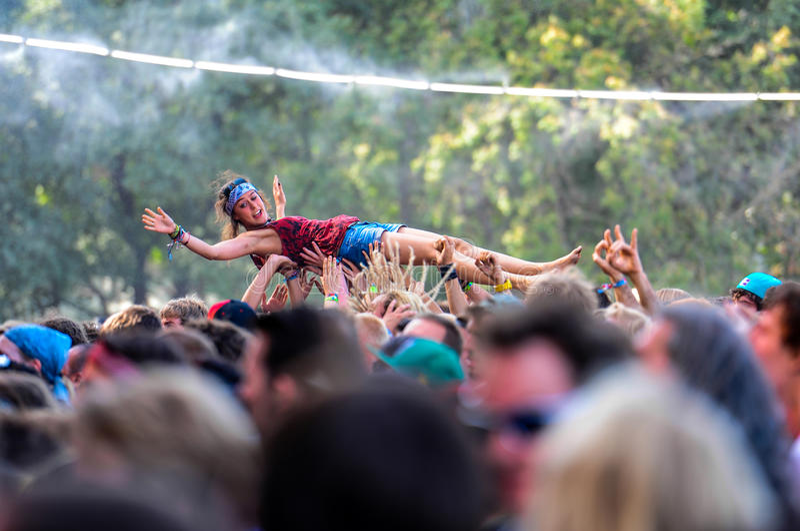 Goście festiwal fotografia royalty free