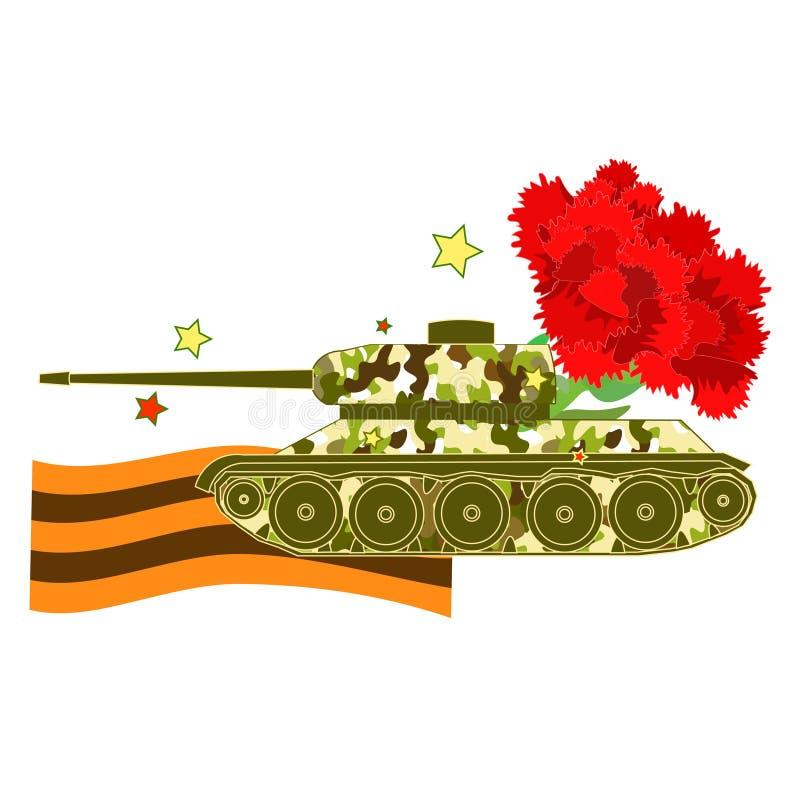 Goździka Cysternowy obrońca Fatherland dzień Wektorowy illustrati royalty ilustracja