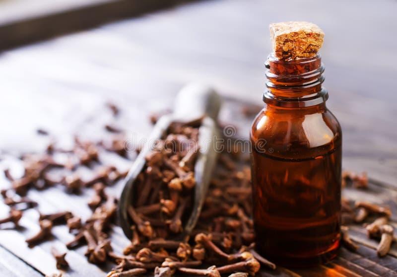 Goździkowy olej zdjęcie stock