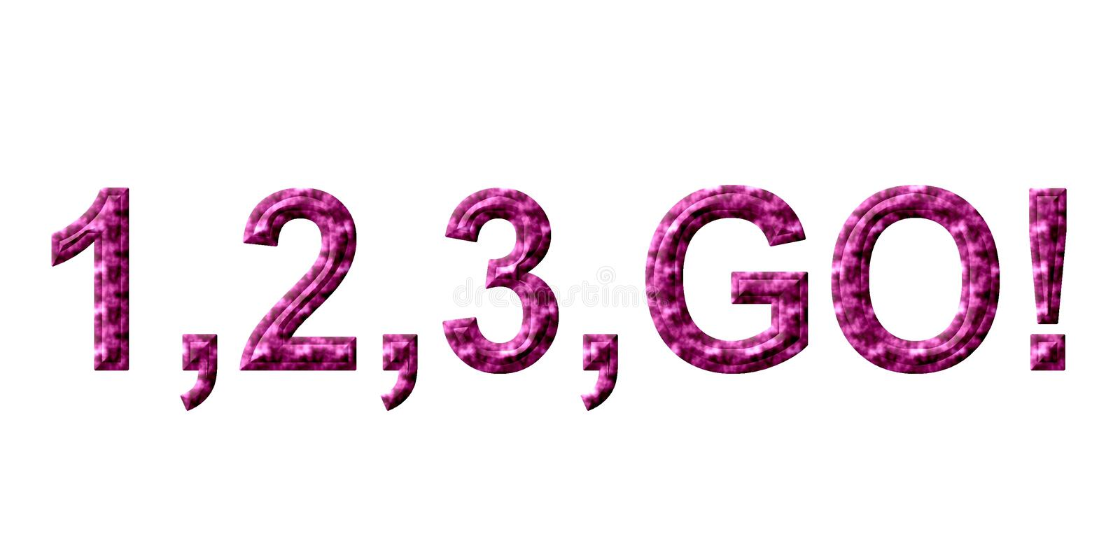 Download Go 123 stock illustration. Image of words, numbers, start - 651388