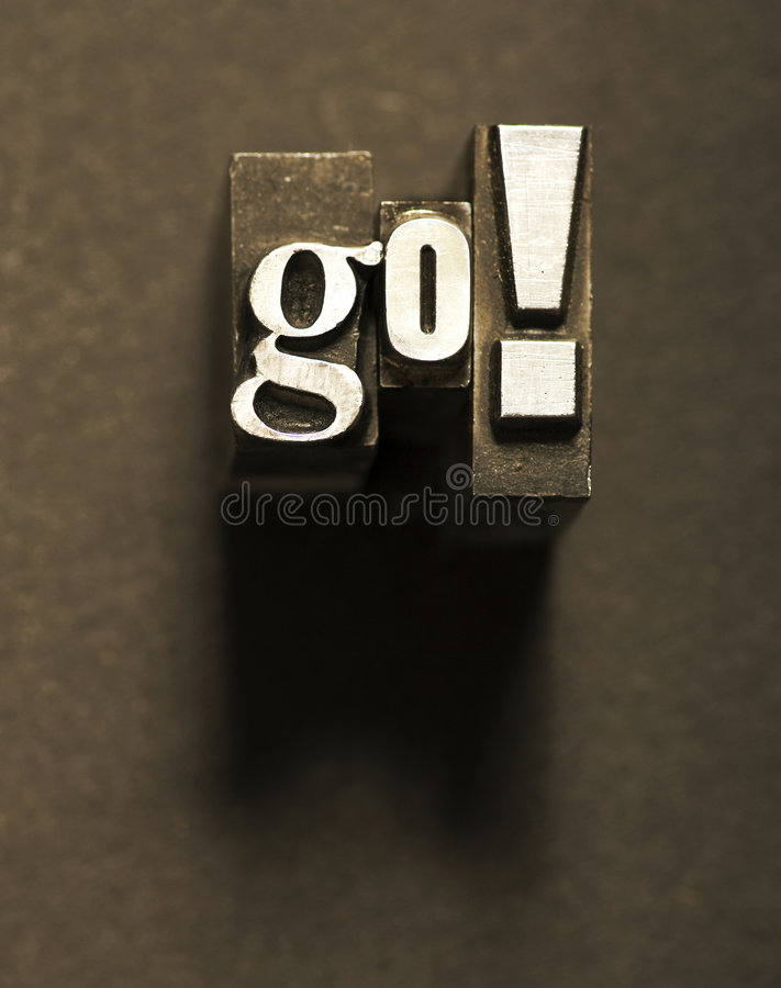 Go! royalty free stock images