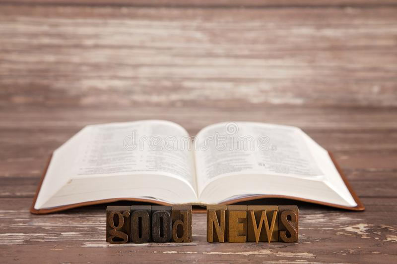 Go into all the world and preach the good news to all creation. `Go into all the world and preach the good news to all creation` - Mark 16:15 royalty free stock photo