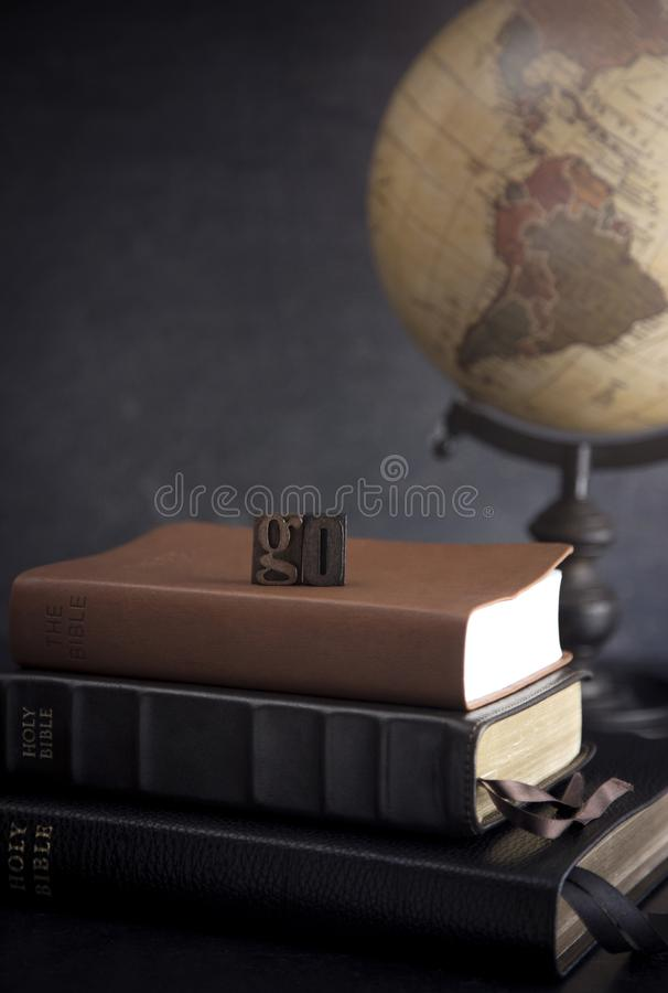 Go Into All the World and Tell the Gospel to All Creation. A Verse From the Bible royalty free stock photo