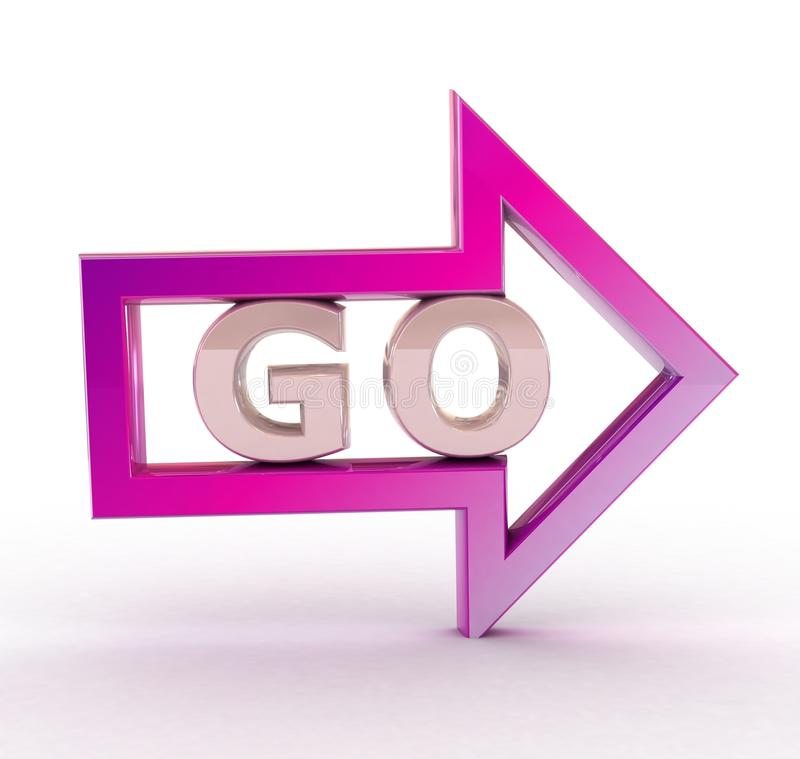 Go! and arrow. royalty free stock images