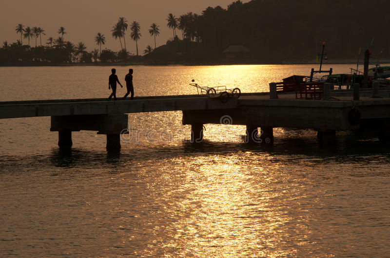 Download Go Back Home During Sunset In Thailand Stock Image - Image: 16781417