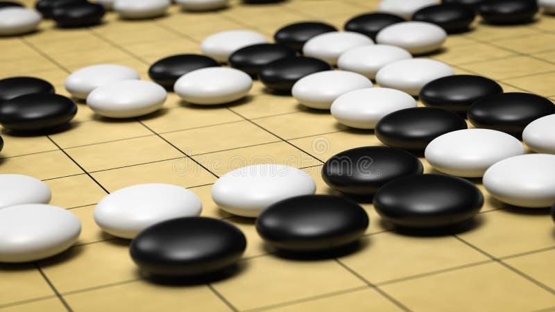 Go Board Game vector illustration