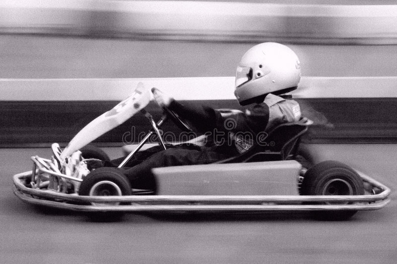 Go-Cart. Racing at speed royalty free stock photography