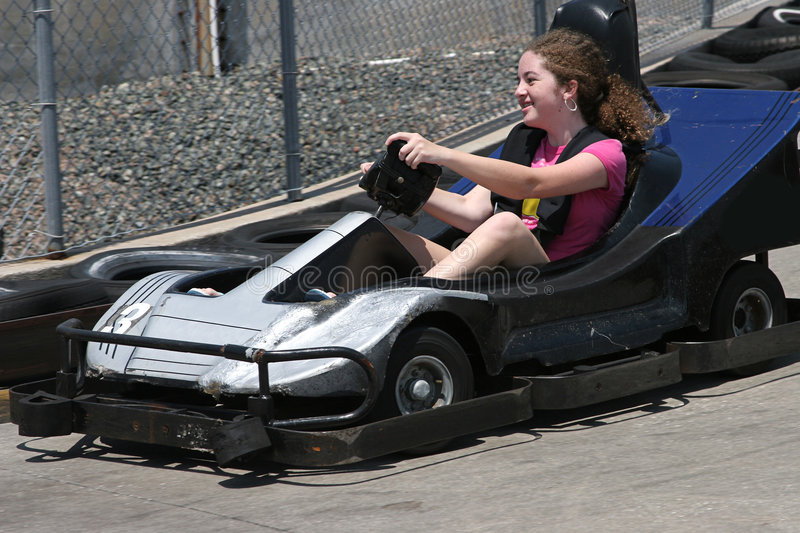 Download Go Cart Girl Royalty Free Stock Image - Image: 196636
