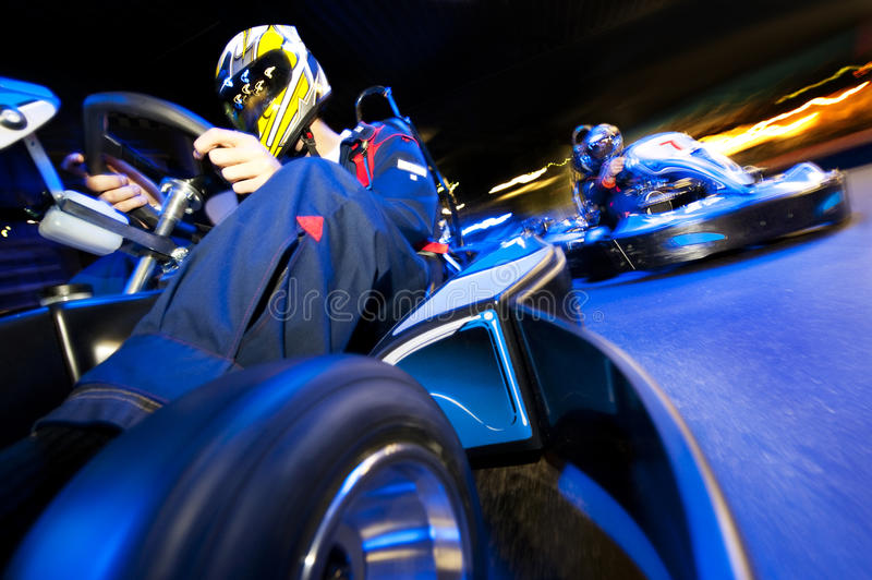 Go-Kart Race stock image