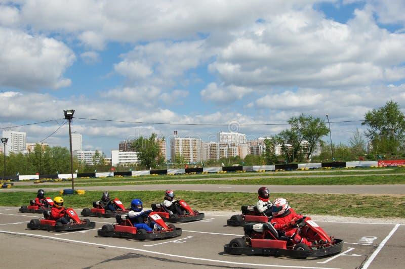 Go-cart racing stock image