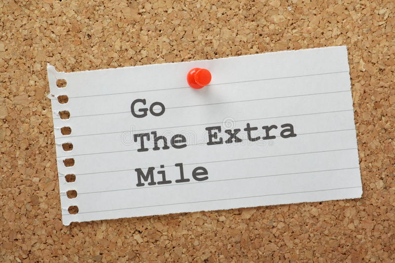 Go The Extra Mile royalty free stock photography