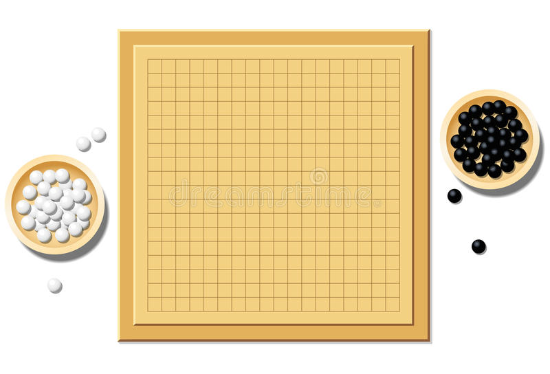 Go Game Blank Start Of Play Board royalty free illustration