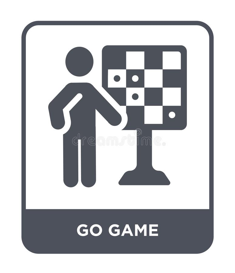 Go game icon in trendy design style. go game icon isolated on white background. go game vector icon simple and modern flat symbol. For web site, mobile, logo stock illustration