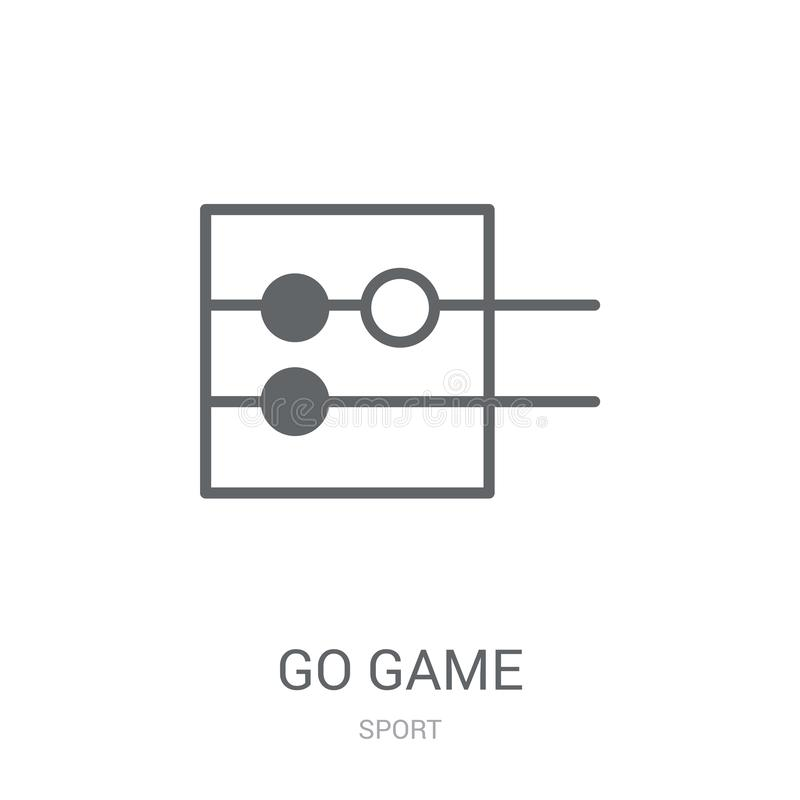 Go game icon. Trendy Go game logo concept on white background fr. Om Sport collection. Suitable for use on web apps, mobile apps and print media stock illustration