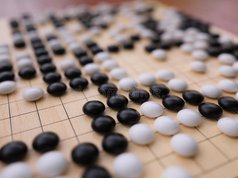Download Go Game Playing Field Close Up Stock Image