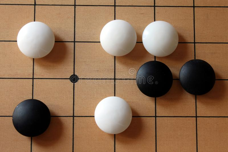 Download GO-Game With Some Gaming Pieces Stock Photo - Image: 33753150