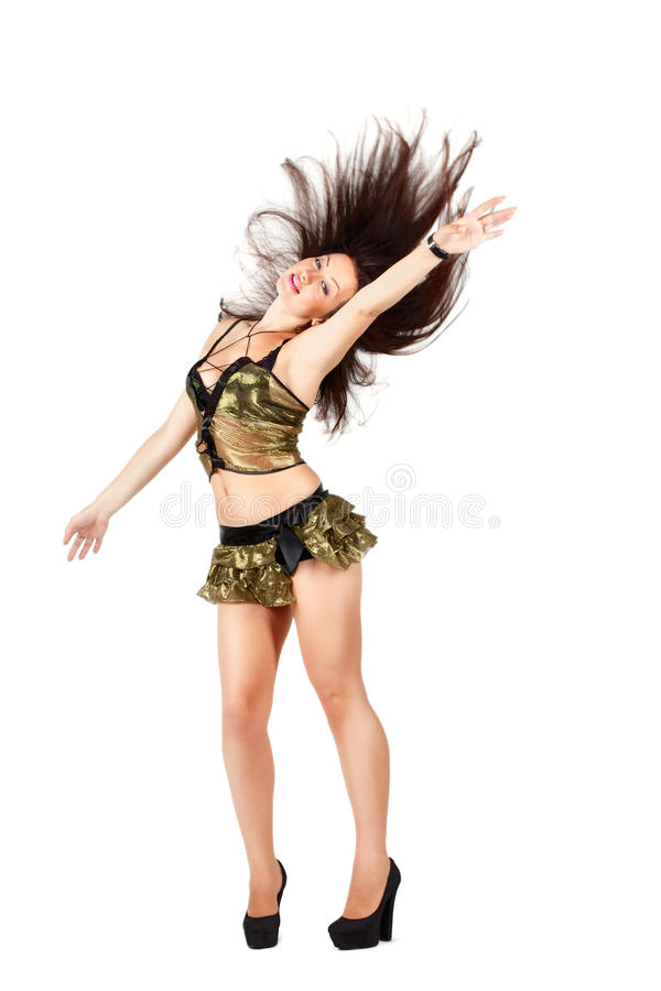 Go-go Dancer With Long Hair Stock Images